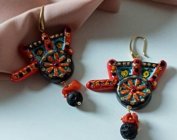Sicilian Cart earrings