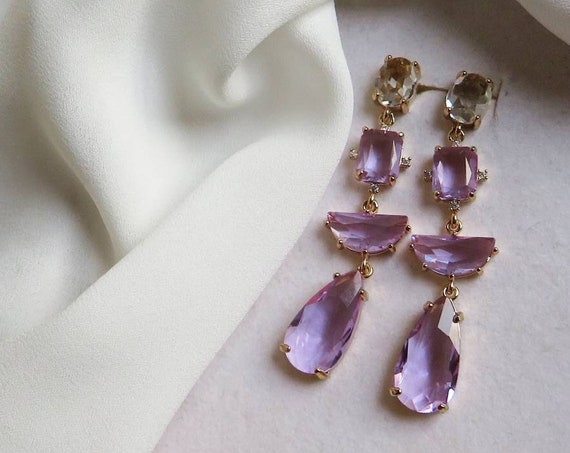 Wisteria Colorful Crystal earrings