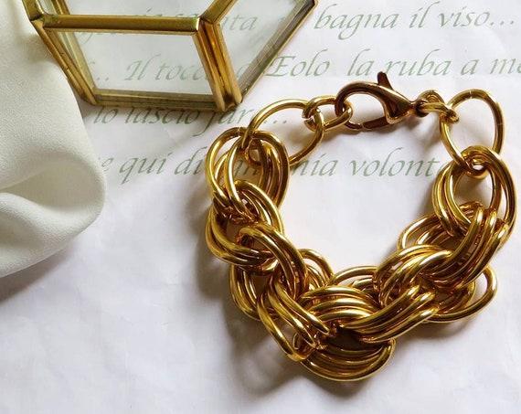 Large chain bracelet