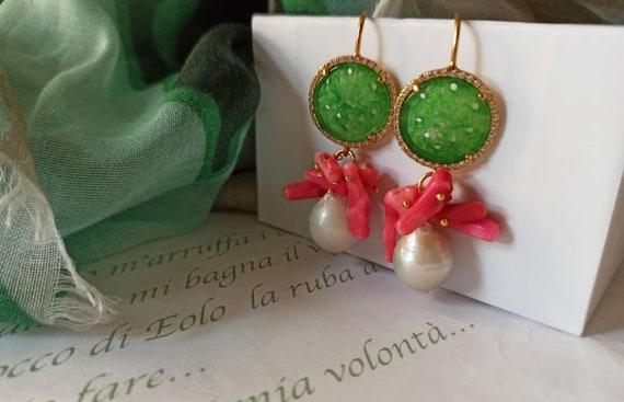 Baroque Pearl drops Wedding Earrings