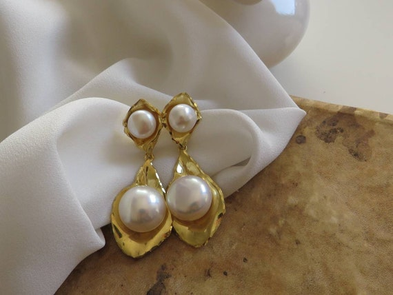 925 Drop Earrings with River Pearls
