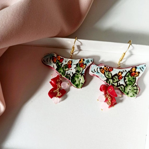 Baroque style Sicily earrings