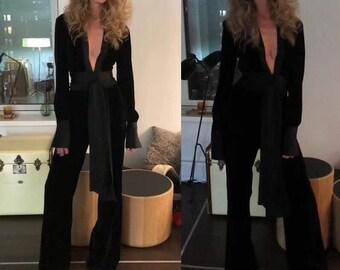 762e9052567d Black velvet jumpsuit