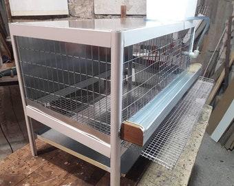 Aluminum cage for quail. Color-white.