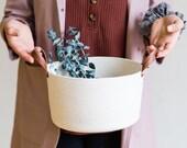 Rope Planter, Planter Basket, Plant Pot, catch all, rope basket storage, hamper