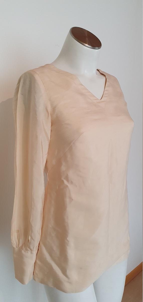 Vintage Silk Tunika-70s- Retro Blouses- vintage Tu