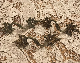 Vintage French Provencial Drawer Pulls Set FREE SHIPPING
