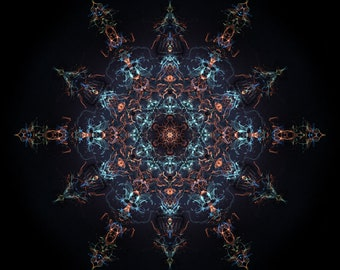 Supernova Sacred Geometry Mandala Digital Art Print Download