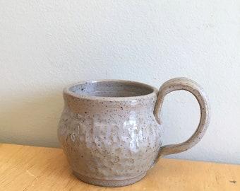 Grey Ceramic Mug, pottery coffee mug