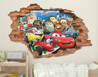 3d Wall Decals Etsy