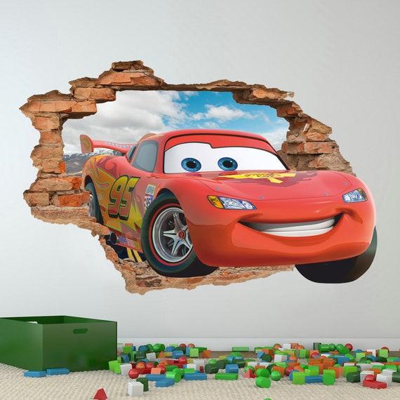 Disney Cars 3d Wandtattoo Lightning Mcqueen Wandtattoo Etsy