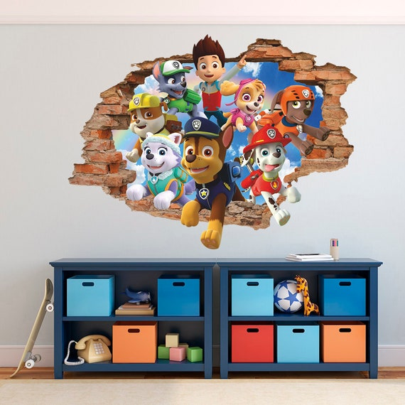 Wall Decal Removable Sticker Paw Patrol Room Decor