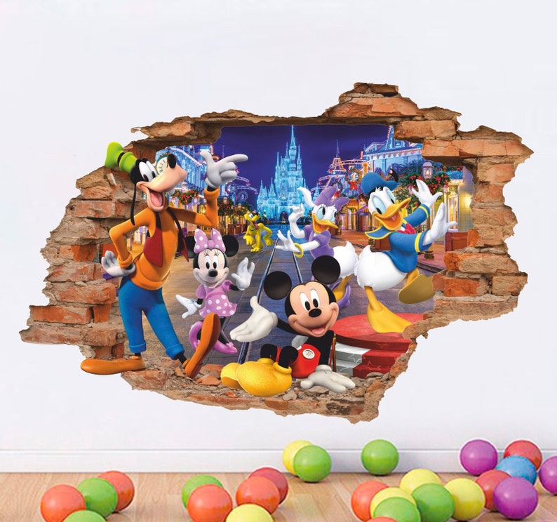 Tangled 3D Wall Decal Removable Vinyl Sticker Disney Wall Sticker