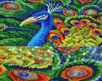 Peacock Diamond Embroidery with frame