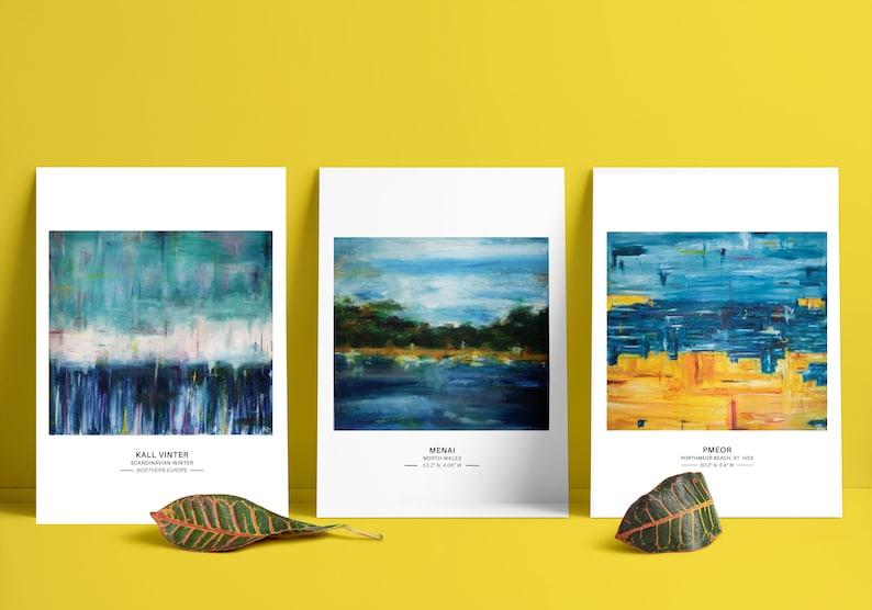 A5 SEASCAPE PRINTS  A5 Print Art Print Beach Art Abstract image 0