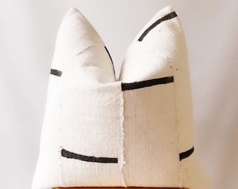 Authentic Mudcloth  pillow cover ,natural and black Mudcloth pillow cover ,for sofa pillow cover