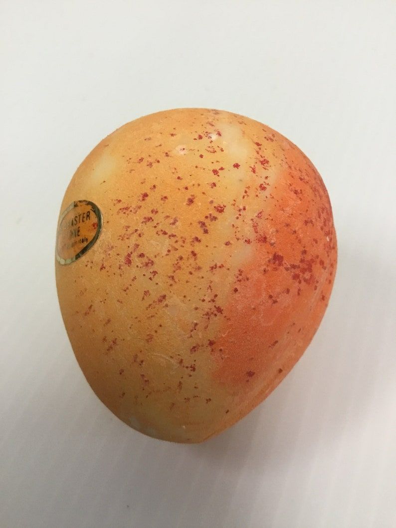 G Alabaster Apricot From Italy Handpainted Handcarved Still Taped In Original Bag