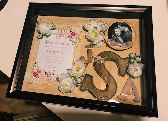 Personalized Wedding Invitation Shadow Box Gift Picture Frame Etsy