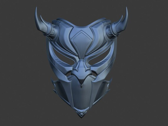 Princess Kitana Samurai Mask From Mortal Kombat 11 3d Model Etsy