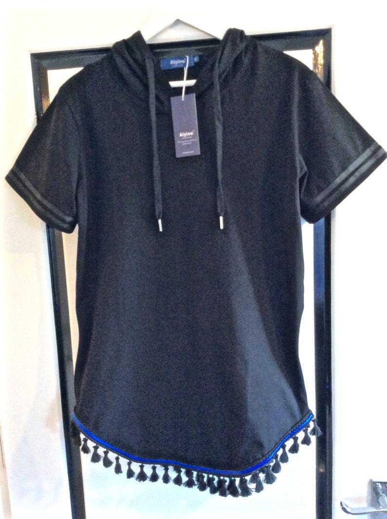 30d6628c35ce Mens Hebrew Israelite Black Short Sleeve Side Zipper Hoodie | Etsy