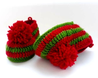 51290442f0262 Items similar to Xmas baby outfit Christmas baby shoes Snowflake ...