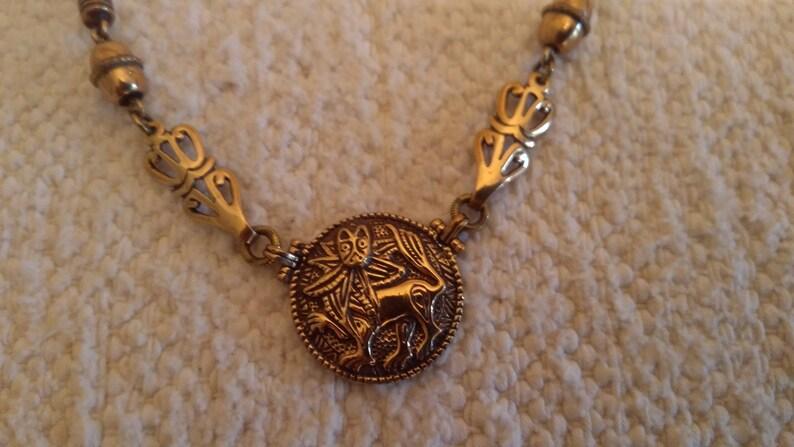 Sun Lion Necklace Bronze Kalevala Jewelry