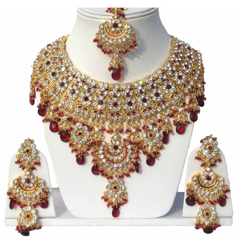 62f7885cb120 Finekraft INDIAN ZIRCON NECKLACE Latest Kundan Zircon