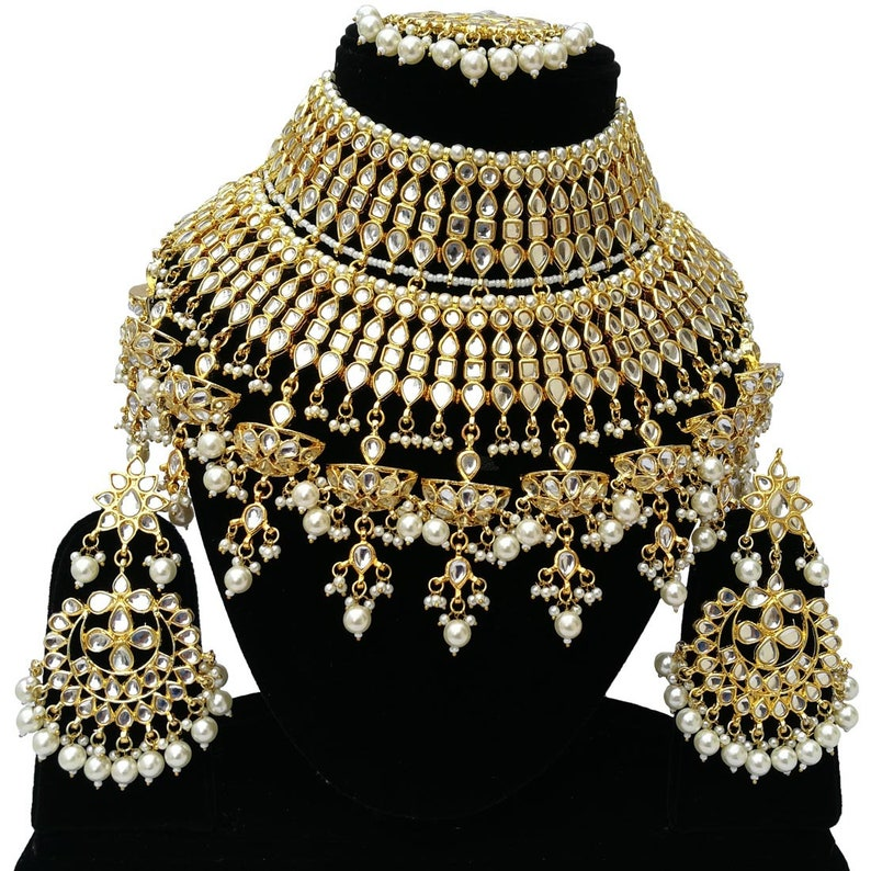 4cdab70923c6 Finekraft Pearls Designer INDIAN TRADITIONAL Gold Plated