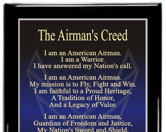 Airmans creed etsy the airmans creed plaqueair force plaquemilitary plaqueretirement plaquepromotion giftpcs plaquegoing away giftmilitary gift thecheapjerseys Images