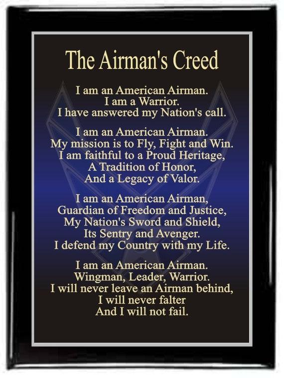 The airmans creed plaqueair force plaquemilitary altavistaventures Choice Image