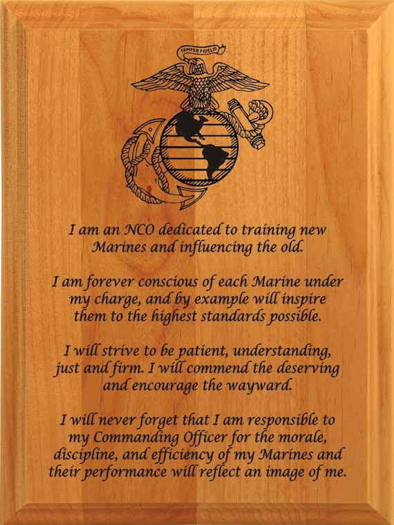 army nco creed plaque