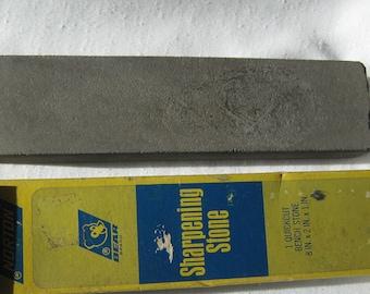 "Norton Sharpening Stone 8x2"". sharpening stone Norton USA.Bear Brand sharpener."
