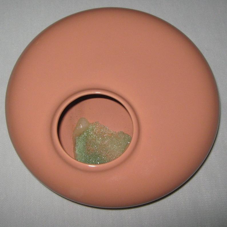 Vintage Unique Round Vase or Planter. Shallow Vintage Vase Low Round Style Vase or centerpiece
