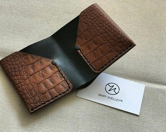 Genuine leather wallet, purse, pocketbook, hand work, handmade