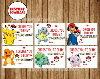 photo relating to Pokemon Valentine Cards Printable referred to as Dana Alley upon Etsy