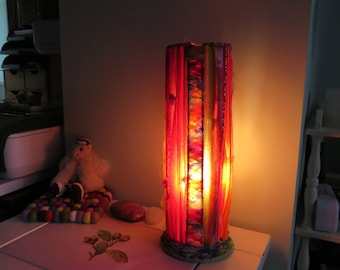 Boho Table Lamp. Vintage materials. Brand new fitting & bulb.