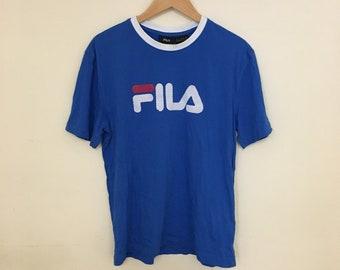641c82d60f16 Fila Spellout Short Sleeve T-Shirt Royal Blue Medium