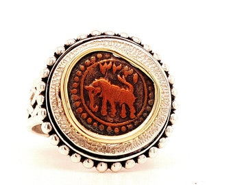 One-of-a-Kind Ancient Coin Ring