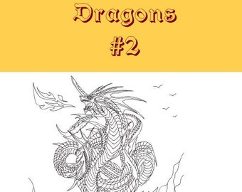 Dragons 5 Adult Coloring Pages (#2)