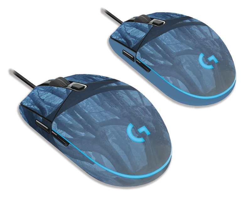 Dark Forest Logitech G203 Prodigy Gaming Mouse Skin   Both Original And  Solid Side Options As Shown Are Included