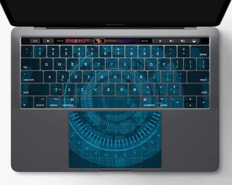 official photos a80b8 920d0 Blue Cybernetics Keyboard Skin | Macbook Pro Retina Air Vinyl Decal Sticker  Cover Keyboard Trackpad 11 12 13 15 Inch Matte Texture