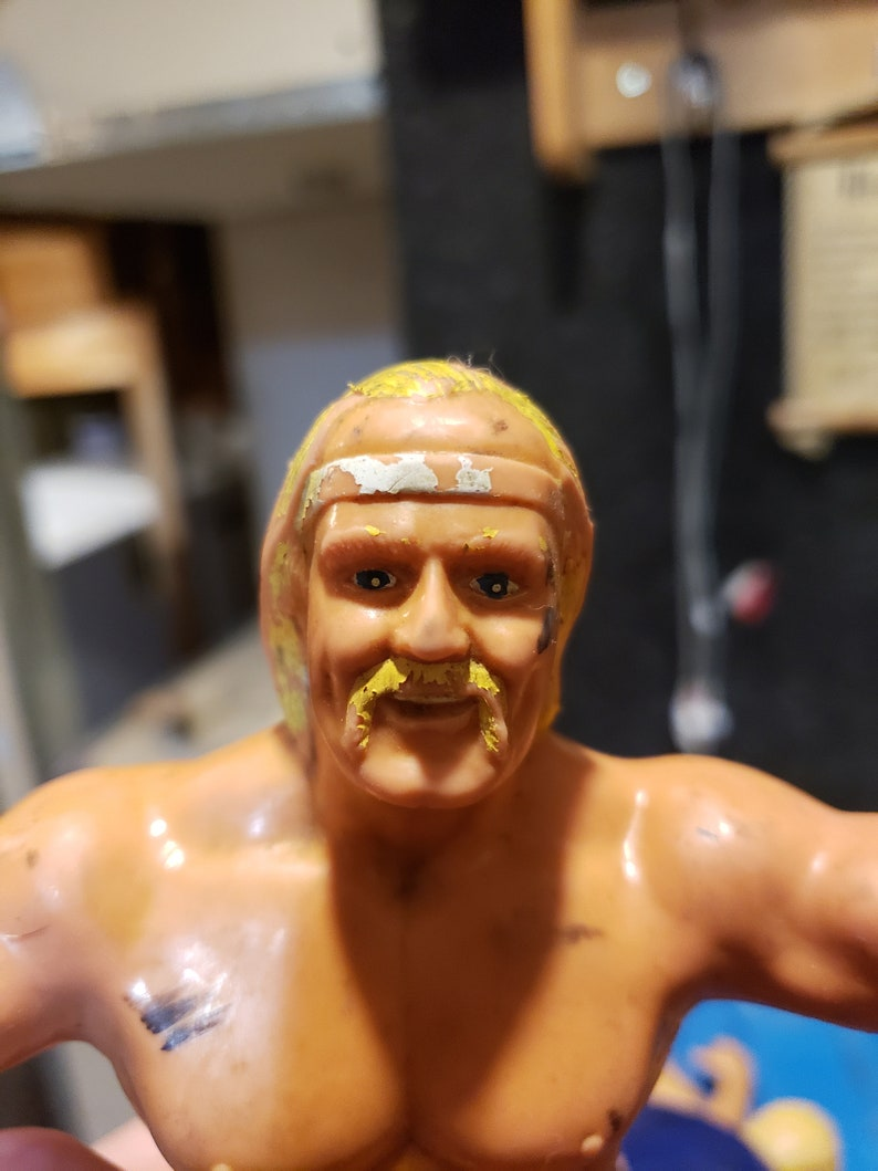Rare WWF HULK HOGAN Ljn Rubber Figure Wrestling Wwe Wcw Now Hollywood Hogan Collectible