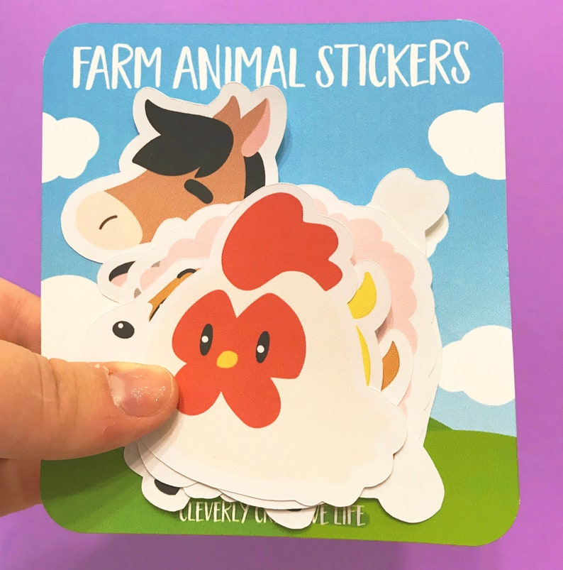 Farm Animal Stickers | Harvest Moon Inspired Die Cut Sticker Pack