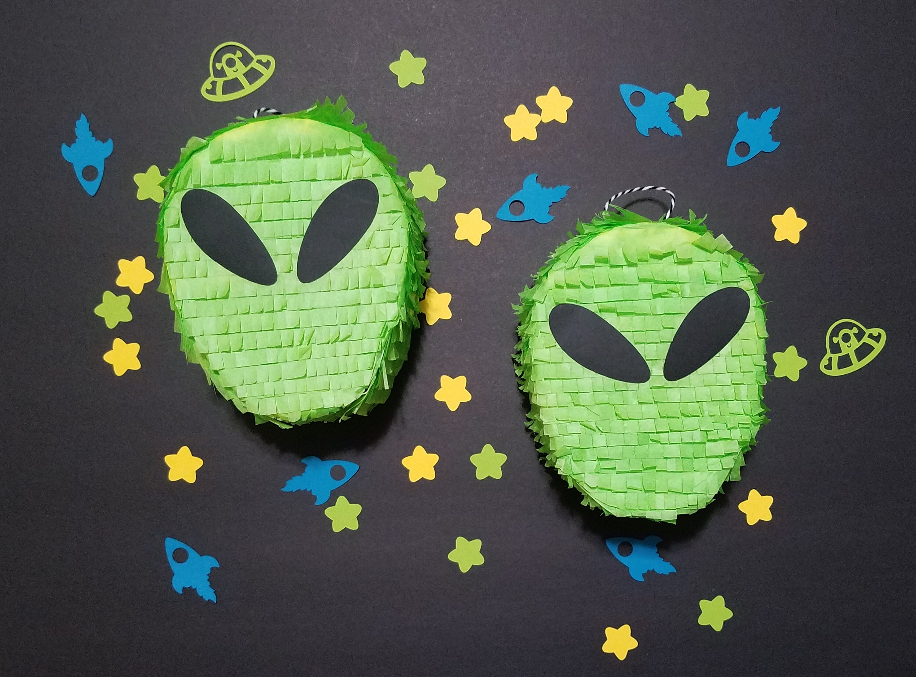 Space Birthday Party 100 pieces Green Alien Confetti Alien Decorations Outer Space Party Decor Out of This World Party