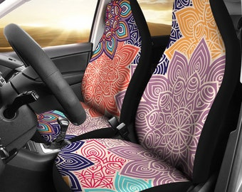 Colorful Floral Mandalas Car Seat Covers Pair bc435eda6a