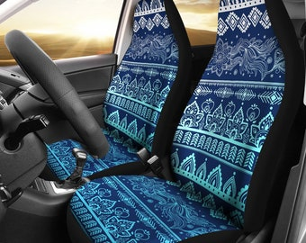 Boho Car Seat Covers Pair 2 Front Cover For Protector Accessory Bohemian Chic