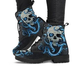 0768416c91a Skull boots   Etsy