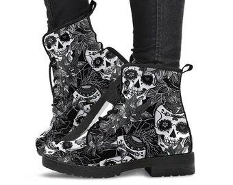 0768416c91a Skull boots | Etsy