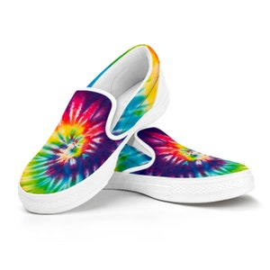 Abstract Themed Shoes For Women Purple and White Custom Men/'s Hand Painted Hippie Slip On Shoes in Blue Men /& Teens Sold!!!