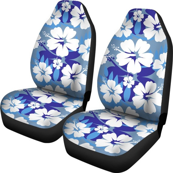 Excellent Light Blue Aloha Flowers Car Seat Covers Pair 2 Front Car Seat Covers Seat Cover For Car Car Seat Protector Car Accessory Floral Ibusinesslaw Wood Chair Design Ideas Ibusinesslaworg